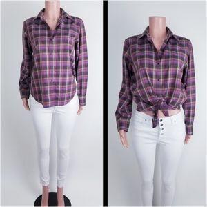 Ralph Lauren plaid button-up long sleeve shirt